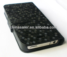Flip wallet leather case for iphone 5 factory price and accept PayPal