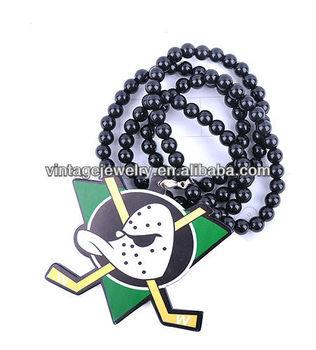 GDN010 Online Jewelry Store Acrylic Necklace Hockey Pendant Jewellery