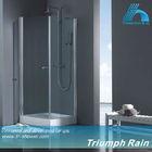 square tempered glass single pivot door shower room