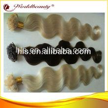 wholesale hair 5a top quality 100% virgin brazilian hair prebonded extensions