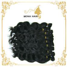 Virgin human hair weave in bulk