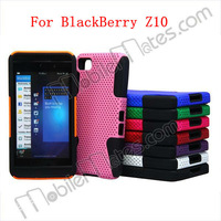Shockproof Protective Case for BlackBerry , Hybrid PC + Silicon Mesh Cover Case for BlackBerry Z10 Phone