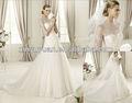 O mais novo 2014 manga longa e elegante vestido de casamento nupcial lov-036