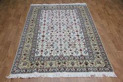 6'x9' Handmade rugs silk and wool persian flower oriental rug sales