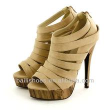 2014Latest Design Sexy High Heel Women Shoes Wedge Roman Sandal Shoes