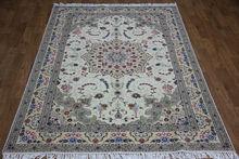 6'x9' Hand made rugs qum design nice flower wool silk rugs
