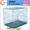 Folding dog crate dog cage trolley