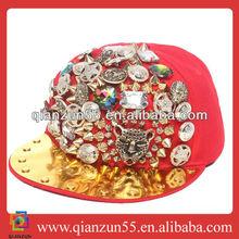 Wholesale Women/Men Hip Hop Punk Rivet Cap 6 panel snapback hat