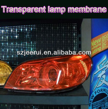 car light wrap film,color change wrap vinyl,auto lamp decoration stickers 0.3*10m