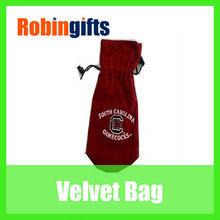 Popular! Fashion! Wholesale velvet wine bag