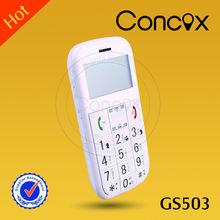 Cheap cell phone GS503 alarm senior tracker SOS button