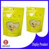 zipper food grade dog treats plastic packaging bag on roll for pet food 500g
