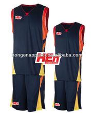 sublimated basketball wear/basketball uniform
