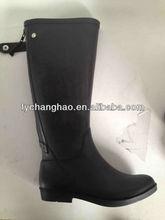 2014 moda donna chiaro alti al ginocchio stivali da pioggia