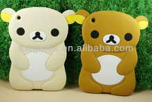 Tablet case cover Cute Rillakuma 3d silicone case for ipad mini , for ipad mini case silicone skin,for ipad case silicone 3d