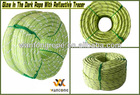 """1/2"""" x 300ft Outdoor Camping Glow In The Dark Rope With Reflective Tracers"""