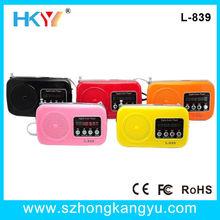 Mini Portable USB Speaker Player MicroSD/TF Card FM Radio For PC iPod iPhone MP3
