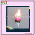 fantasia flor crisântemo bolo de aniversário vela com a música e fogos de artifício