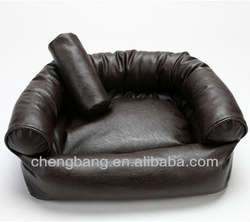 Luxury pet sofa bed made of PU leather