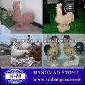 Dekorasyon için küçük hayvan heykel horoz