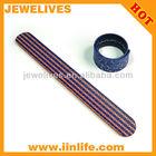 OEM customized silicone slap ruler band