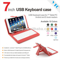 """7"""" TABLET CASE MICRO USB KEYBOARD LEATHER CASE FOR ANDROID TABLET EPAD APAD MID"""