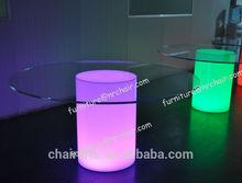 shanghai sale nightclub acrylic led illuminated commercial round table