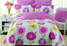 bright color 100% cotton quilt cover set