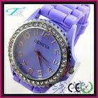 Diamond geneva silicone watches own logo wholesale