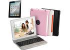 For iPad 2 3 4 Retina 2.4G Bluetooth Keyboard Laptop Case & Power Bank ClamShell