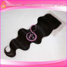 Top grade human hair very high quality 100 handmade lace part brazilian virgin closure