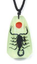 Unique Real scorpion pendant necklace