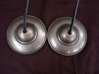 Handmade Seven Metals Plain Tibetan Tingsha Bells Cymbal Nepal
