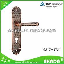 antique interior plate lever door handle