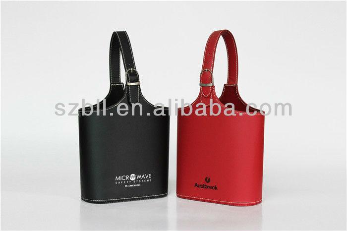 Two bottle wine bag,leather wine bag,wine bag holder