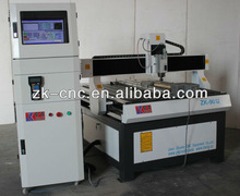 9012 Wood Instrument CNC Engraving Machine 4 Axis/Mach3 Remote Controller/ China Air Cooling Spindle/ Computer Cabinet ZK-9012