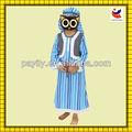 puntos de venta de la fábrica los niños arabian príncipe traje de papel de halloween jugando etapa de traje de halloween disfraces baratos de raso vestido de fiesta