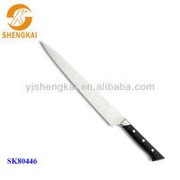 1pc stainless steel carved bone handle knife in pp black handle