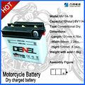 6N11A-1B 6 Volt 11Ah de la batería para yamaha piezas de la motocicleta