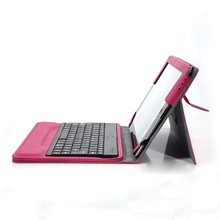 Built-up Bluetooth Keyboard Leather Case For iPad 2 3