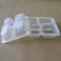 Microwave pp disposable 4-compartment food container