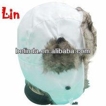 White earflap hat knitting pattern