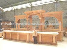 antique reproduction furniture - brunswick pub bar cabinet