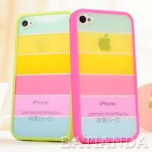 Colorful fashion TPU+ rigid Plastic skin for iphone 5