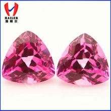 Jewelry Making Gemstone Faceted Ruby/ Trillion cut 7x7mm Ruby Gems