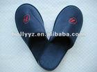 High quality Ming Blue terylene velor cloth mens bedroom slippers