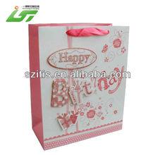 Best Sale Luxury Design brown kraft paper birthday bag