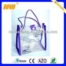 handle eco pvc button bag(NV-PV034)