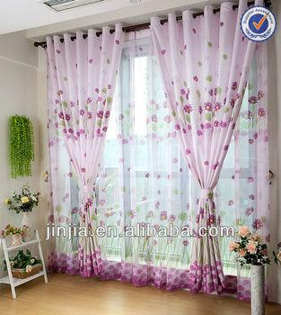 MT 2348 Princess Curtain Flower Curtain Polyester Fabric Print Drapery