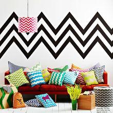 large on sale hot fashion indoor home decor sofa seat cover design zigzag chevron print shanghai cushion